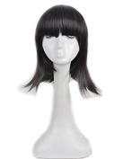 Yuehong Black Wig Fashion Women Cosplay Party Cos Wig