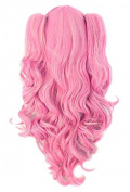 Demarkt Cosplay Wig Pink/ Blonde Multi-colour Lolita Long Curly Clip on Ponytails Cosplay Wig