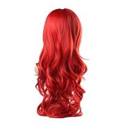 Demarkt Women Wigs High Quality New Women's Big Red Long Full Curly Wavy Glamour Hair Wig Fashion