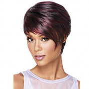 YX Fashion Women's Short Wig with Bangs,Synthetic Wigs Short Straight Hair