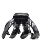 Fancyin Plastic black colour 7.6cm Hair Claw Clip for women