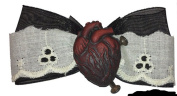 Women's Se7en Deadly Be Still My Heart Hairbow Black