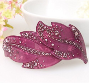 new arrival hair accessorie rhinestone leaf hair accessories bead leaf gold leaf headband for women, Purple