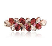 Perfect Gift Luxury Crystal Barrettes Water Drop Multicolor Barrette Hair Clips Big Rhinestone Hair Barrette, Style1