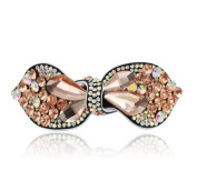 Promotion summer shining colourful bowknot hair clip for women crystal pins rhinestone barrette for lady, Style2