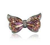 Large butterfly luxious crystal hair comb Fashion crystal hair clip crystal hair pin, Style1