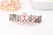 Promotion Ornament petal Rhinestone hair barrette clips delicate acrylic hair pins Fashion jewellery women accessories, Pink