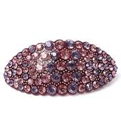 Hair jewellery Acrylic Austria Rhinestone Crystal Hair Barrette for Women Clips for Hair Hairpins, Purple