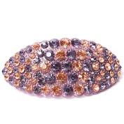 Hair jewellery Acrylic Austria Rhinestone Crystal Hair Barrette for Women Clips for Hair Hairpins, Purple champagne
