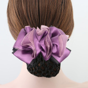Xuanli® 2 Pcs Woman Girl Lady Bowknot Bow Snood Net Bun Cover Barrette Hair Clip