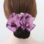 Xuanli® 2 Pcs Woman Girl Lady Bowknot Bow Snood Net Bun Cover Barrette Hair Clip