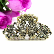 Beuautyxyz Brown colour Crystal high quality Butterfly/flower Hair Claw Clip Pin