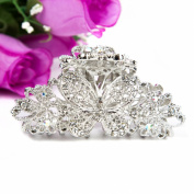 Beuautyxyz Silver colour Crystal high quality Butterfly/flower Hair Claw Clip Pin