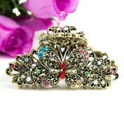 Beuautyxyz Multi colour Crystal high quality Butterfly/flower Hair Claw Clip Pin
