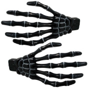 Kreepsville 666 Skeleton Bone Hand Hairslides Black