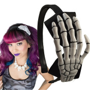 Kreepsville 666 Skeleton Hand Alice Band Black/ White