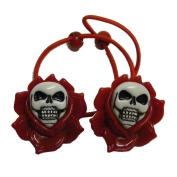 Kreepsville 666 Skull Rose Hairbands Red
