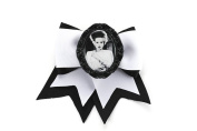 Project Pinup Bride of Frankenstein Traditional Hair Bow Clip