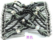 Lovef 1 PCS Combs Stretchable Double Combs ,Popular Hand Made Beadbed Rhinestone Hairpin Hair Styling Comb