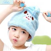 Shintop Dry Hair Cap - Fibre Soft Coral Fleece Hair Dry Hat Absorbent Hair Wrap Cap for Kids