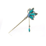 Best Quality, Chines crystal Antique Butterfly Hair Pins, Hair Forks,hair Sticks,hair Chopsticks,wedding or party Hair Jewellery 2pieces/package
