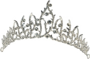 Elegant Mediaeval Gothic Fairy Rhinestone Wedding Crown Tiara