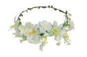 ACVIP Women's Lily Wedding Bridesmaid Accessories Headband Boho Hairband