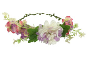 ACVIP Women's Carnation Flower Wedding Photo Taking Boho Hairband