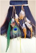 STEVE YIWU® Ethnic Style Fashion Bohemia Peacock Feather Tassel Headband Hair Accessories