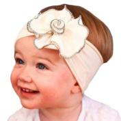 Everain 1PC Big Flowers Cotton Hairband Baby Headband Girl Headwear Headdress