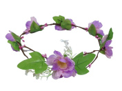 ACVIP Women's Tropical Flower Boho Beach Headband Wedding Hairband