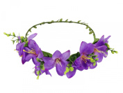 ACVIP Women's Big Flower Boho Style Headband Wedding Party Hairband