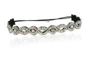 Bride Bridal wedding Crystal Rhinestone Diamond Headband Adjustable Non-slip Comfortable for Wedding