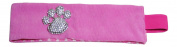 Rhinestone Paw Print Pink Fabric Stretch Headwrap Headband Sports