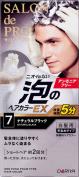 Salon de (for grey hair) Hair Colour EX Men's Speedy of professional foam 7 Natural Black_ 1 agent