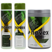 "Novex Bamboo Sprout Shampoo & Conditioner 300ml & Deep Hair Cream Treatment 1040ml ""Set"""
