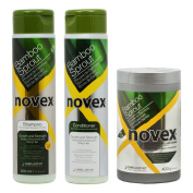 "Novex Bamboo Sprout Shampoo & Conditioner 300ml & Deep Hair Cream Treatment 420ml ""Set"""
