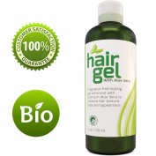 Sexy Hair Gel A Natural Hair Styling Texturizer for Straight Wavy or Curly Hair with Light Hold That Is Infused With Antioxidant Aloe Vera Extract Alcohol Free Sulphate Free For Women & Men By Honeydew