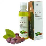 Jojoba Oil 120ml Non-GMO 100% Organic Oil for Hair, Skin, Scalp and Massage Carrier Oils - UV Resistant BPA Free Bottle