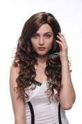 STfantasy Long Curly Wavy Brown Women Wig Costume