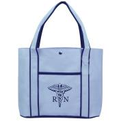 Fashion Tote Bag Shopping Beach Purse Medical Symbol RN Registered Nurse Caduceus