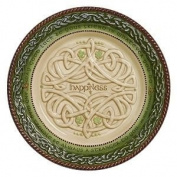 Celtic 8 Relief Patterned Celtic Knot Accent Plate HAPPINESS From Grasslands