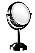 Modern Mirror 92231 Dual-Sided Led illuminated tabletop makeup mirror Black