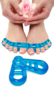 Toe Separators - Gel Stretchers for Therapeutic Pain Relief After Yoga and Sports - Helps to Reduce the Chance of Bunions, Hammer Toes, Plantar Fasciitis, Corns, Cramping & More by Pinky Petals