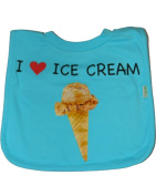 green sprouts Favourite Food Bib,One Size, Blue Ice Cream