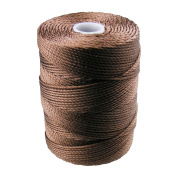 C-LON Bead Cord, Medium Brown- .5mm, 92 Yard Spool