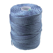 C-LON Tex 400 Bead Cord, Light Blue - 1mm, 39 Yard Spool