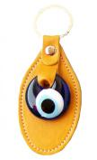 Evil Eye Keychain Keyrings syntetic leather decorative Turkish - Greek - Jewish - Christian Handmade ornament
