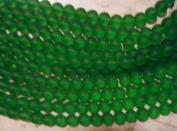 "NEW Bead, Beach Sea Glass (Man Made) Green 12mm - 12"""