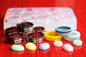 Multi-Clear-silicone Ring Moulds 8pc,size multi-colour-{7.5}{8}{8.75}silver{8}{9}{10}{11.5}{13}
